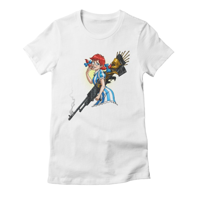 Burger Witch Women's Fitted T-Shirt by goodbadflicks's Artist Shop