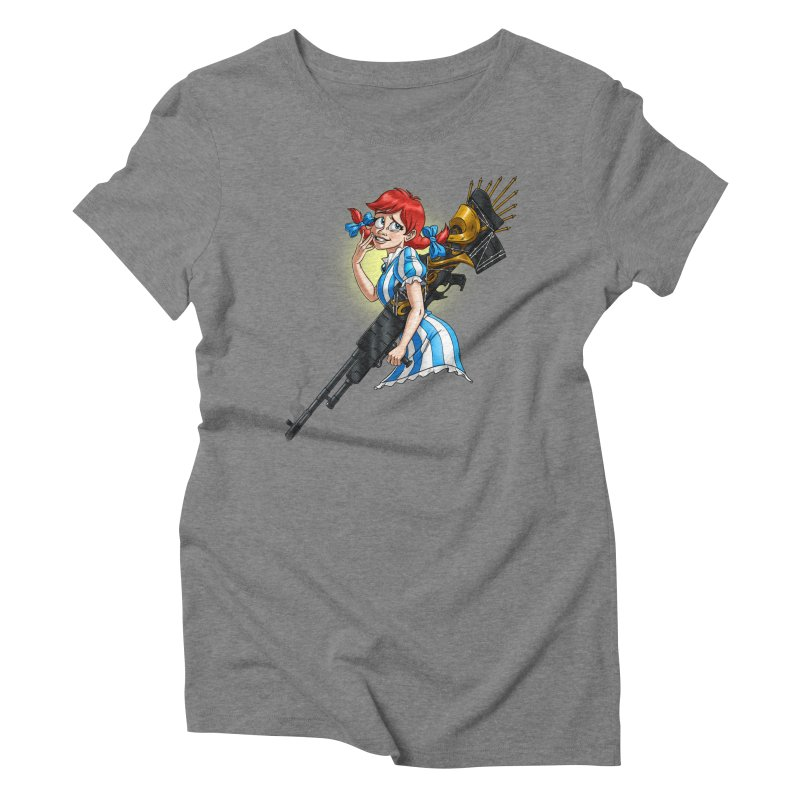 Burger Witch Women's Triblend T-Shirt by Good Bad Flicks