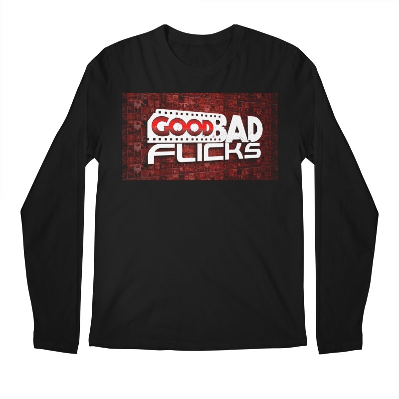Good Bad Flicks (Logo with Background) Men's Regular Longsleeve T-Shirt by Good Bad Flicks