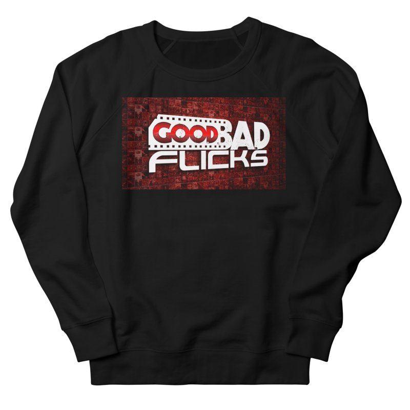 Good Bad Flicks (Logo with Background) Men's French Terry Sweatshirt by Good Bad Flicks