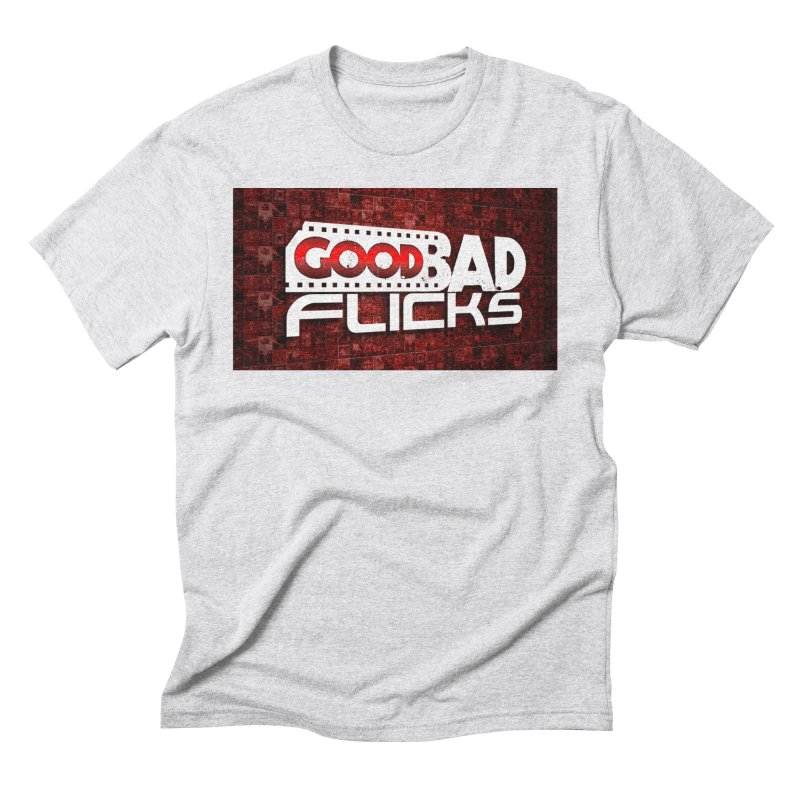 Good Bad Flicks (Logo with Background) Men's Triblend T-Shirt by Good Bad Flicks