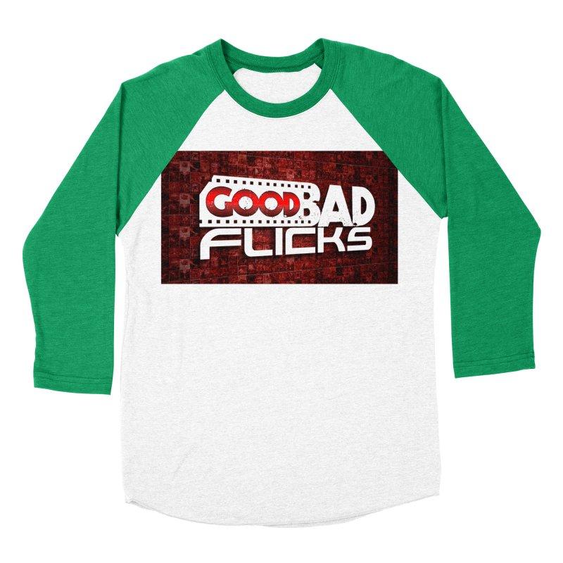 Good Bad Flicks (Logo with Background) Women's Baseball Triblend Longsleeve T-Shirt by Good Bad Flicks