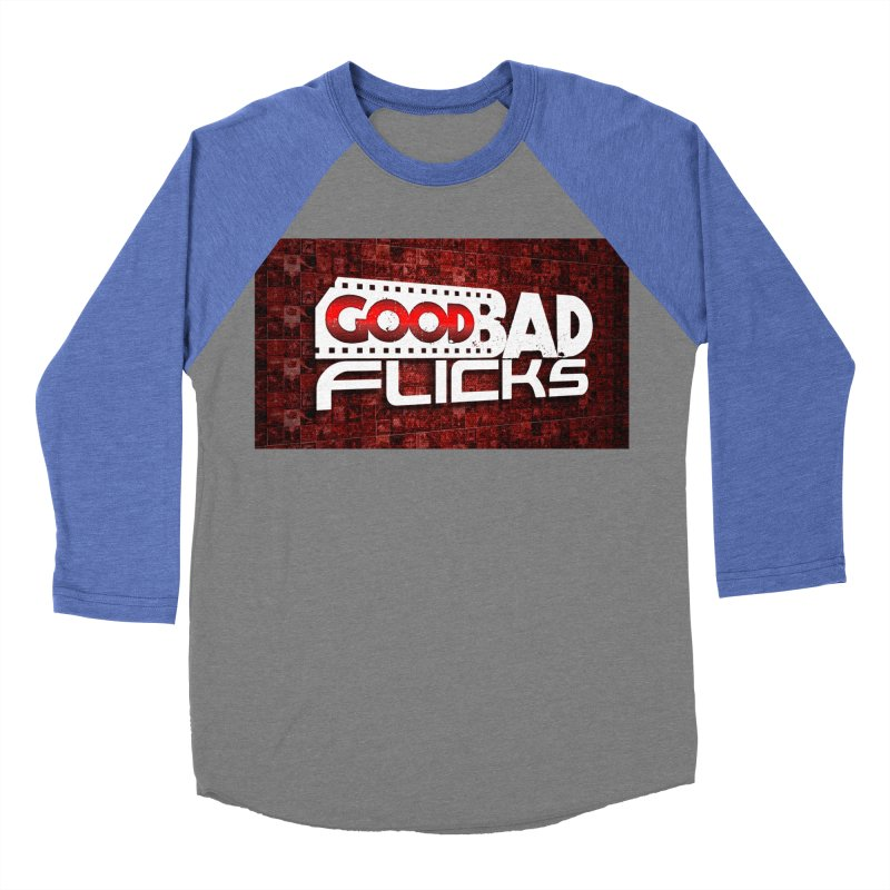 Good Bad Flicks (Logo with Background) Women's Baseball Triblend Longsleeve T-Shirt by Good Bad Flicks