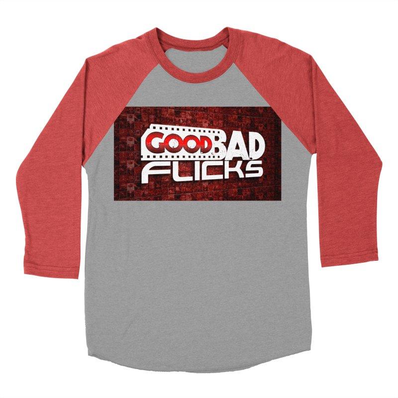 Good Bad Flicks (Logo with Background) Men's Baseball Triblend Longsleeve T-Shirt by goodbadflicks's Artist Shop