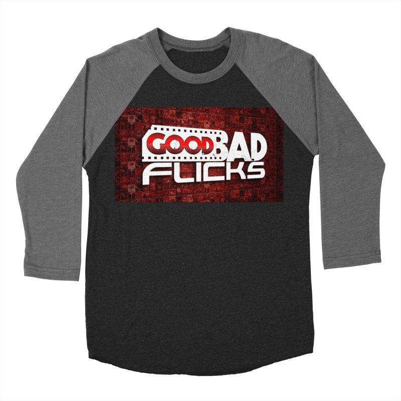Good Bad Flicks (Logo with Background) Men's Baseball Triblend Longsleeve T-Shirt by Good Bad Flicks