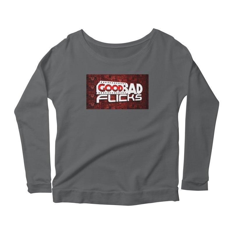 Good Bad Flicks (Logo with Background) Women's Scoop Neck Longsleeve T-Shirt by goodbadflicks's Artist Shop