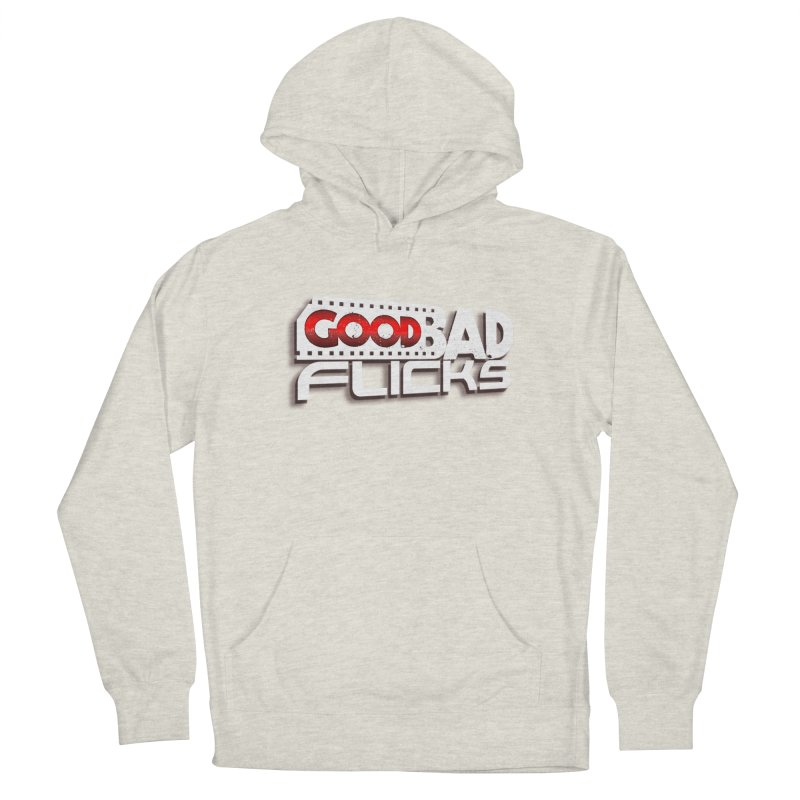 Good Bad Flicks (Logo with Shadow) Women's French Terry Pullover Hoody by Good Bad Flicks