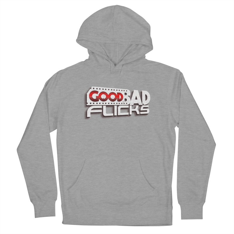 Good Bad Flicks (Logo with Shadow) Men's French Terry Pullover Hoody by goodbadflicks's Artist Shop