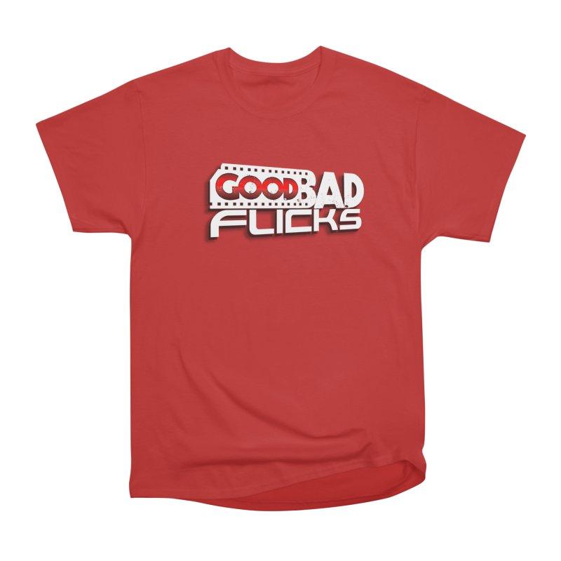 Good Bad Flicks (Logo with Shadow) Men's Heavyweight T-Shirt by goodbadflicks's Artist Shop