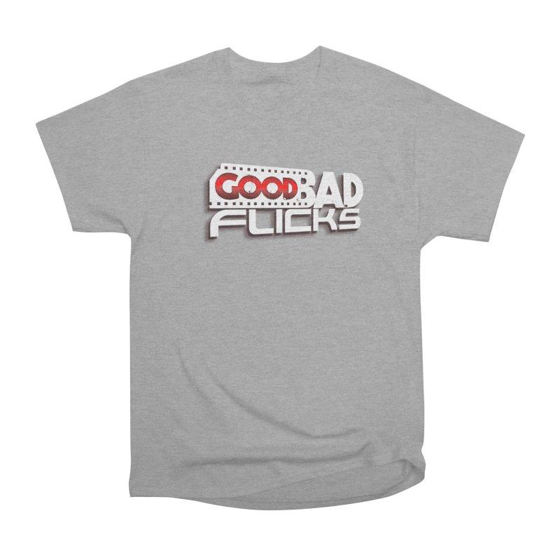 Good Bad Flicks (Logo with Shadow) Men's Heavyweight T-Shirt by Good Bad Flicks