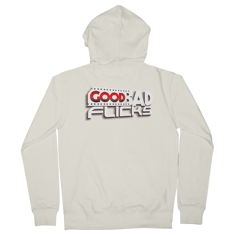 Good Bad Flicks (Logo with Shadow) Women's French Terry Zip-Up Hoody by Good Bad Flicks