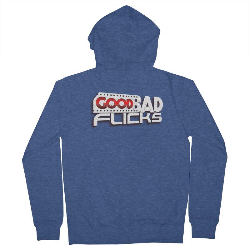 Good Bad Flicks (Logo with Shadow) Men's Zip-Up Hoody by Good Bad Flicks