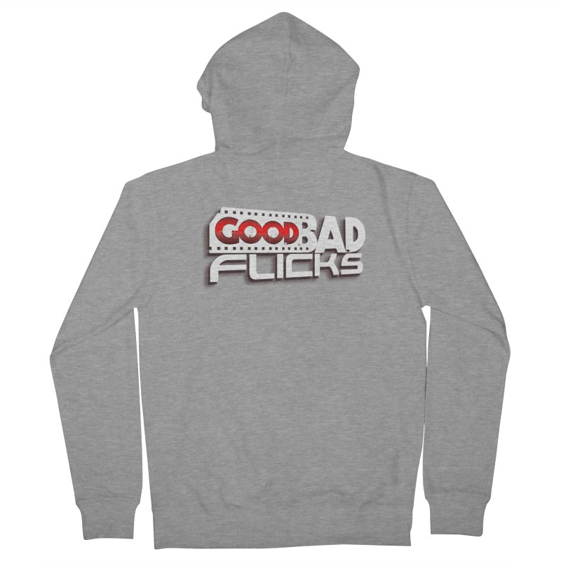 Good Bad Flicks (Logo with Shadow) Men's French Terry Zip-Up Hoody by goodbadflicks's Artist Shop