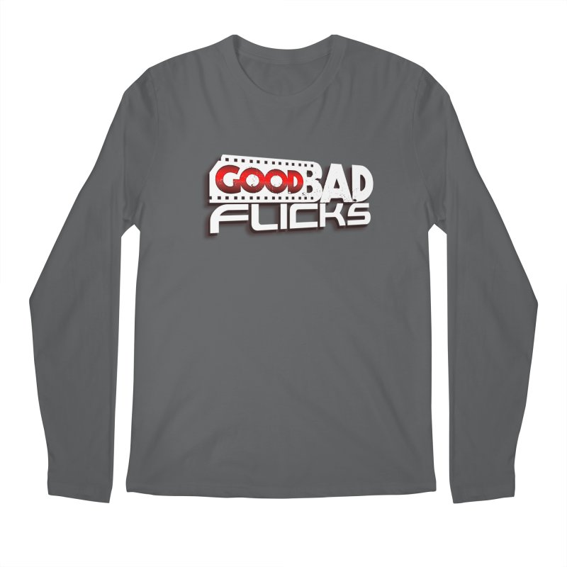 Good Bad Flicks (Logo with Shadow) Men's Regular Longsleeve T-Shirt by goodbadflicks's Artist Shop