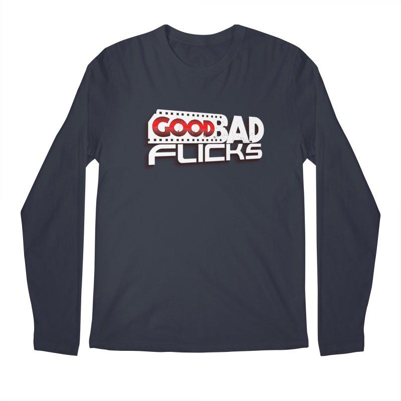 Good Bad Flicks (Logo with Shadow) Men's Regular Longsleeve T-Shirt by Good Bad Flicks