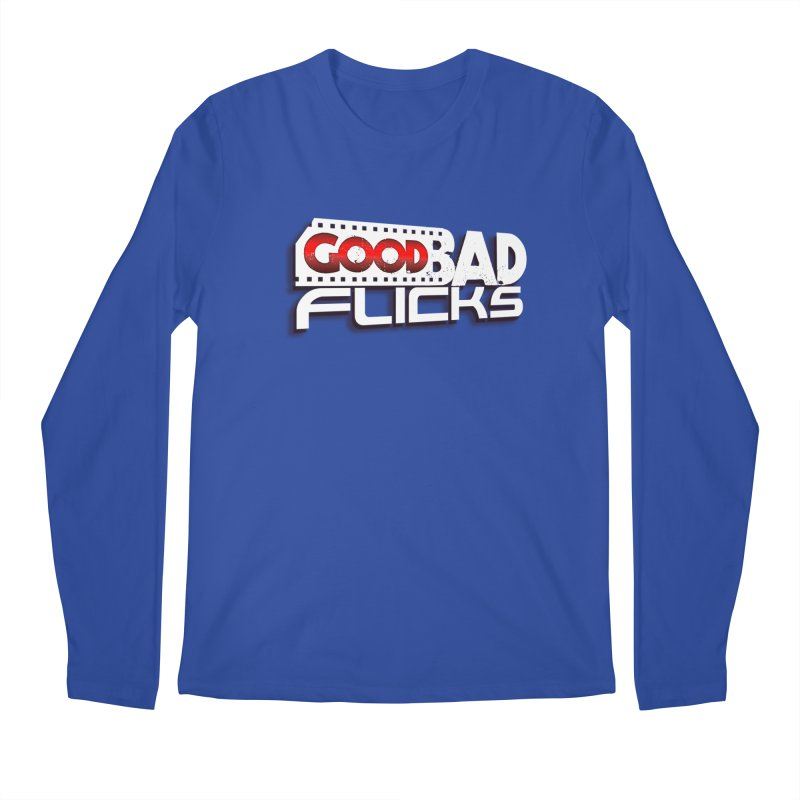 Good Bad Flicks (Logo with Shadow) Men's Regular Longsleeve T-Shirt by Good Bad Flicks