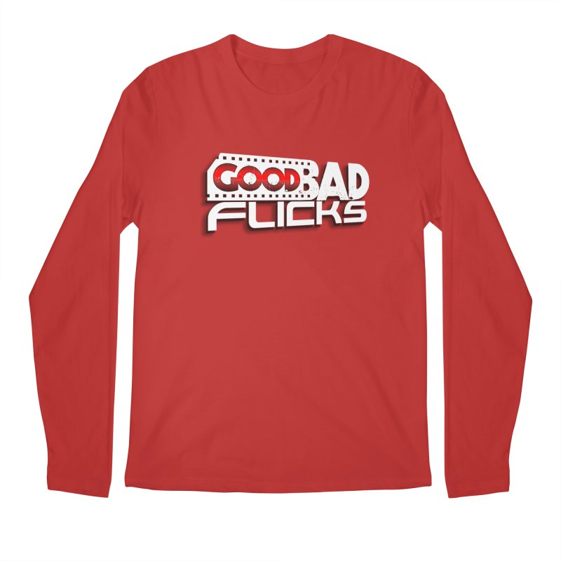 Good Bad Flicks (Logo with Shadow) Men's Longsleeve T-Shirt by Good Bad Flicks