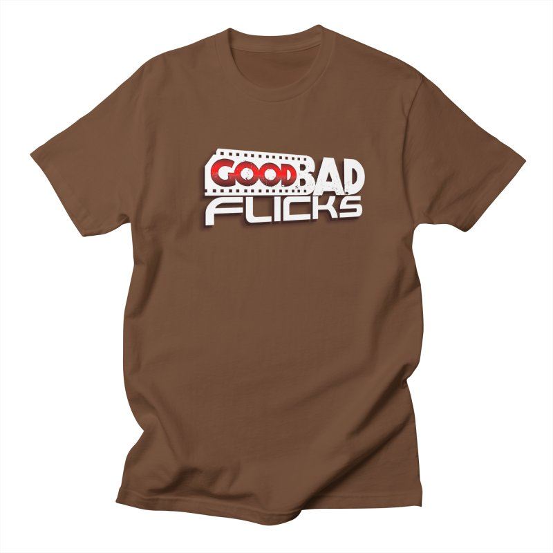 Good Bad Flicks (Logo with Shadow) Men's Regular T-Shirt by goodbadflicks's Artist Shop