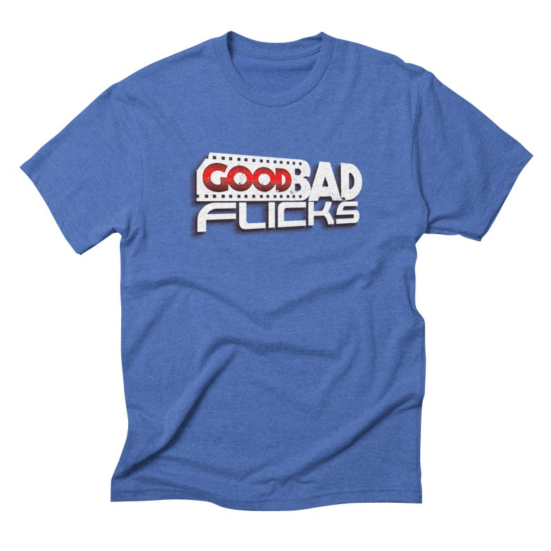 Good Bad Flicks (Logo with Shadow) Men's Triblend T-Shirt by Good Bad Flicks