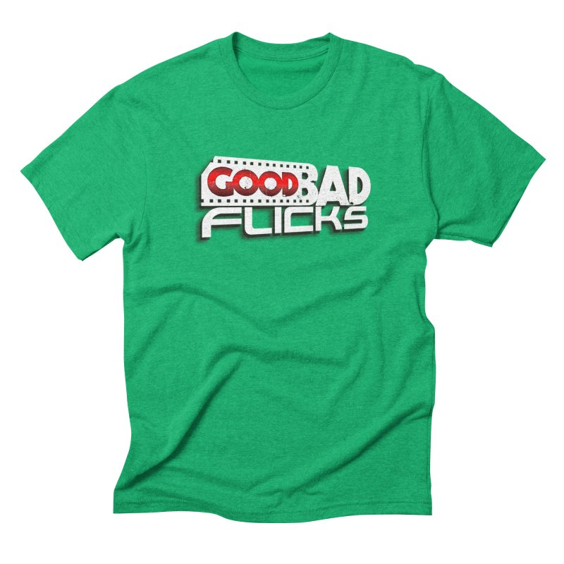 Good Bad Flicks (Logo with Shadow) Men's Triblend T-Shirt by Good Bad Flicks