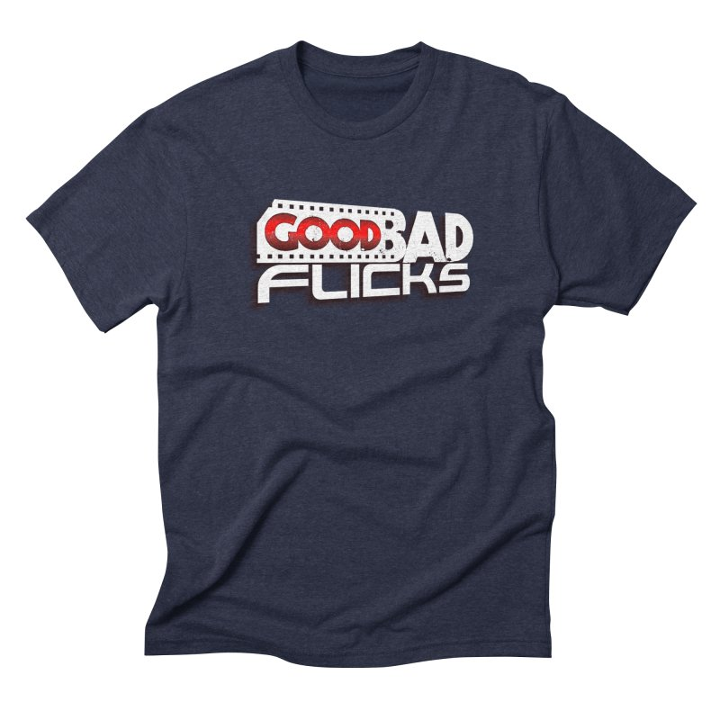 Good Bad Flicks (Logo with Shadow) Men's Triblend T-Shirt by goodbadflicks's Artist Shop