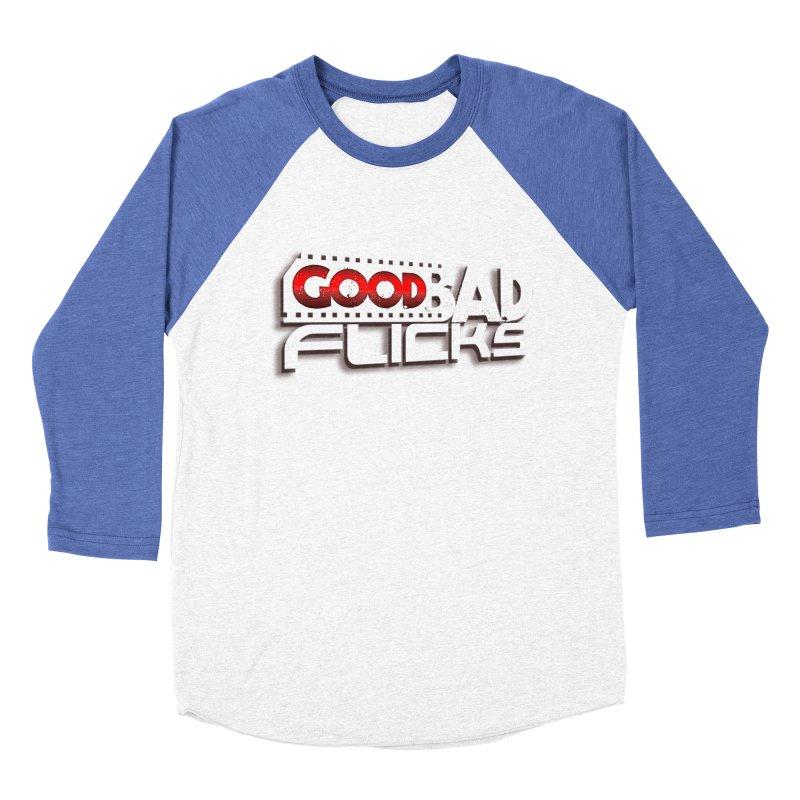Good Bad Flicks (Logo with Shadow) Women's Baseball Triblend Longsleeve T-Shirt by goodbadflicks's Artist Shop