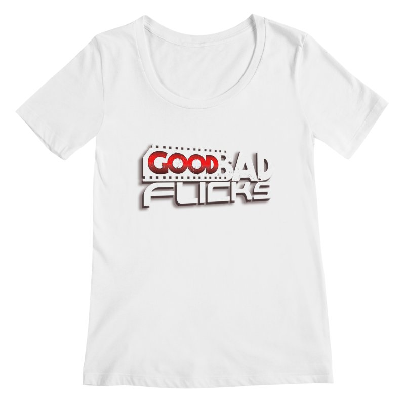 Good Bad Flicks (Logo with Shadow) Women's Regular Scoop Neck by Good Bad Flicks