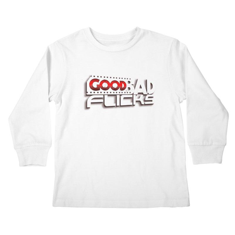 Good Bad Flicks (Logo with Shadow) Kids Longsleeve T-Shirt by Good Bad Flicks