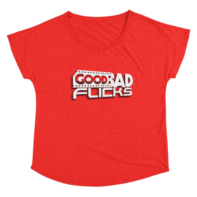 Good Bad Flicks (Logo with Shadow) Women's Scoop Neck by Good Bad Flicks