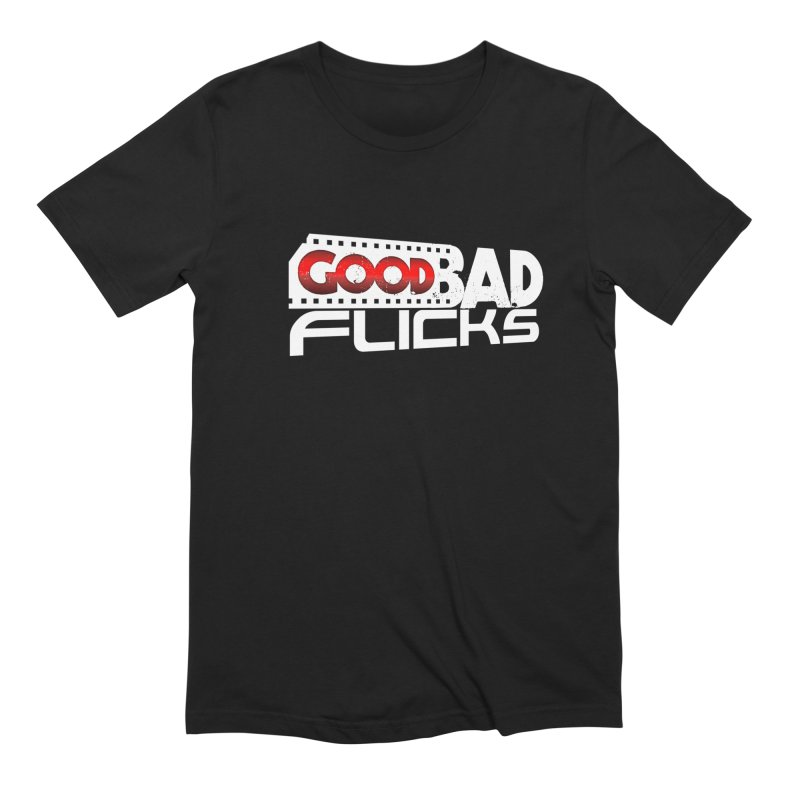 Good Bad Flicks (Logo Without Shadows) Men's Extra Soft T-Shirt by goodbadflicks's Artist Shop