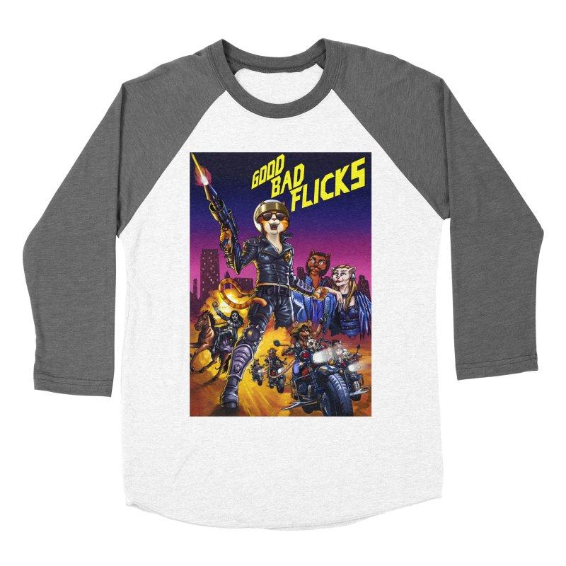 1990 Good Bad Flicks Warriors Men's Baseball Triblend Longsleeve T-Shirt by Good Bad Flicks