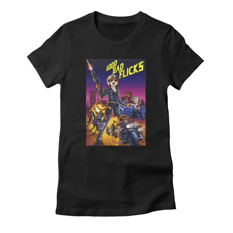 1990 Good Bad Flicks Warriors Women's T-Shirt by Good Bad Flicks
