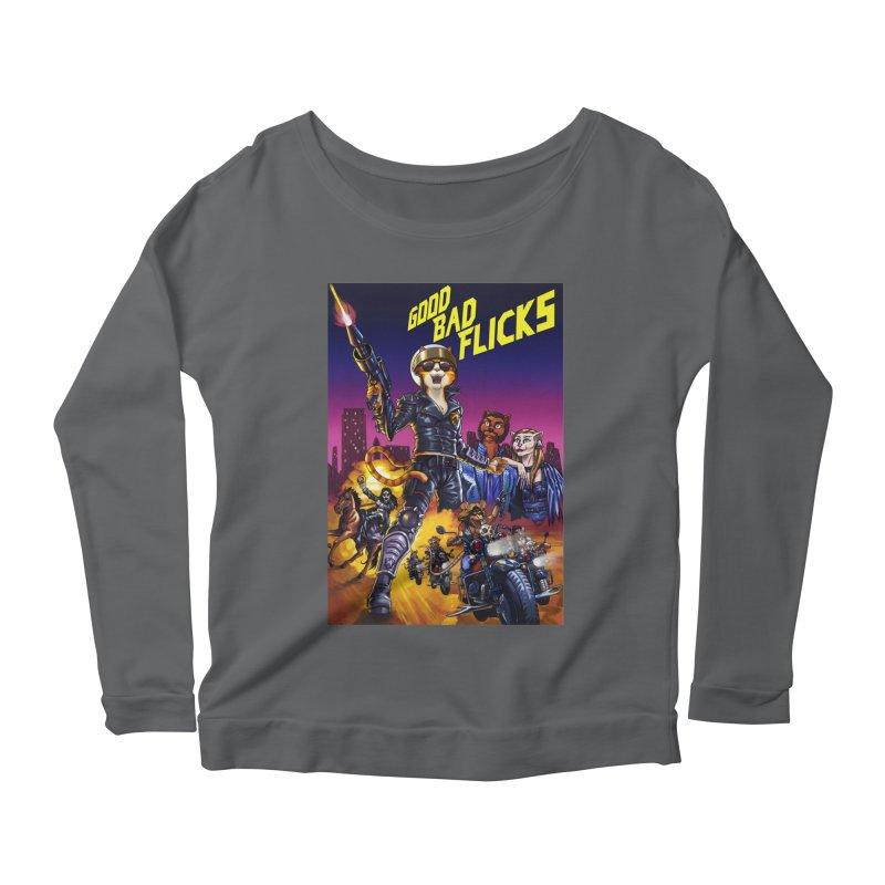 1990 Good Bad Flicks Warriors Women's Scoop Neck Longsleeve T-Shirt by Good Bad Flicks
