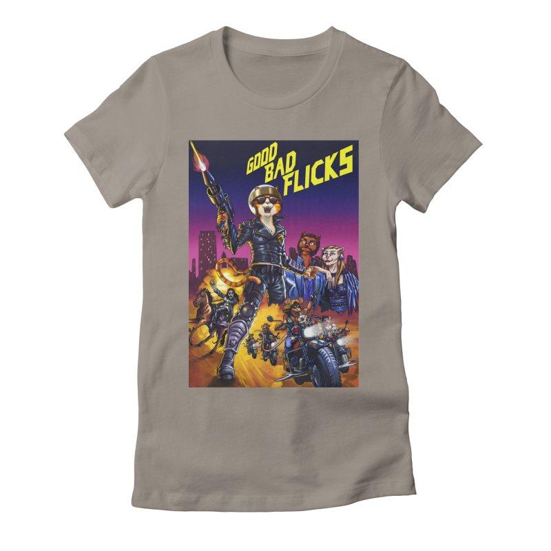 1990 Good Bad Flicks Warriors Women's Fitted T-Shirt by goodbadflicks's Artist Shop