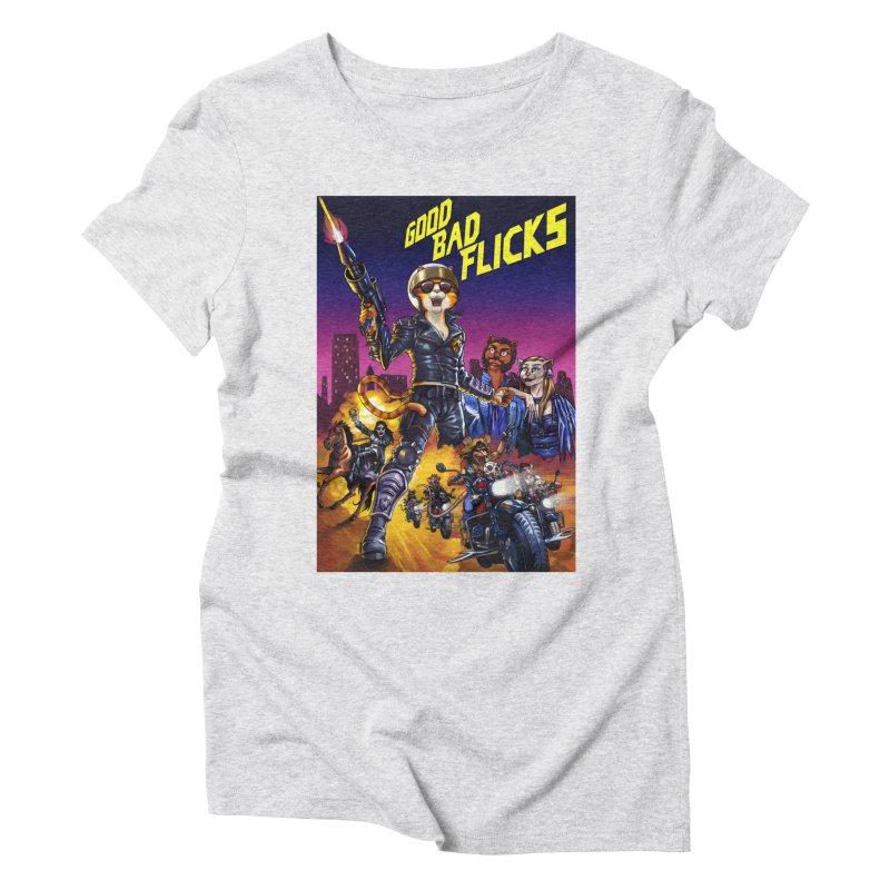 1990 Good Bad Flicks Warriors Women's Triblend T-Shirt by Good Bad Flicks