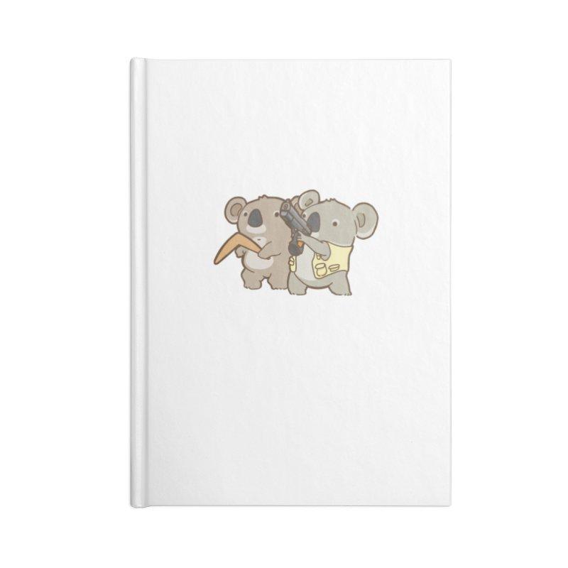 Dangerous Koalas Accessories Lined Journal Notebook by Good Bear Comics's Artist Shop