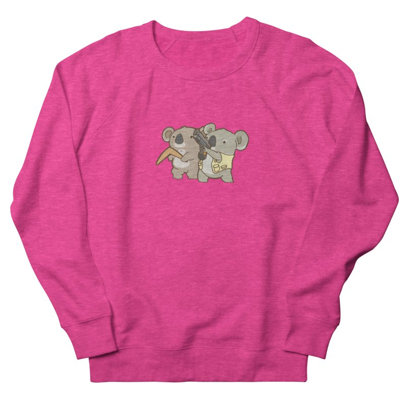 Dangerous Koalas Women's French Terry Sweatshirt by Good Bear Comics's Artist Shop