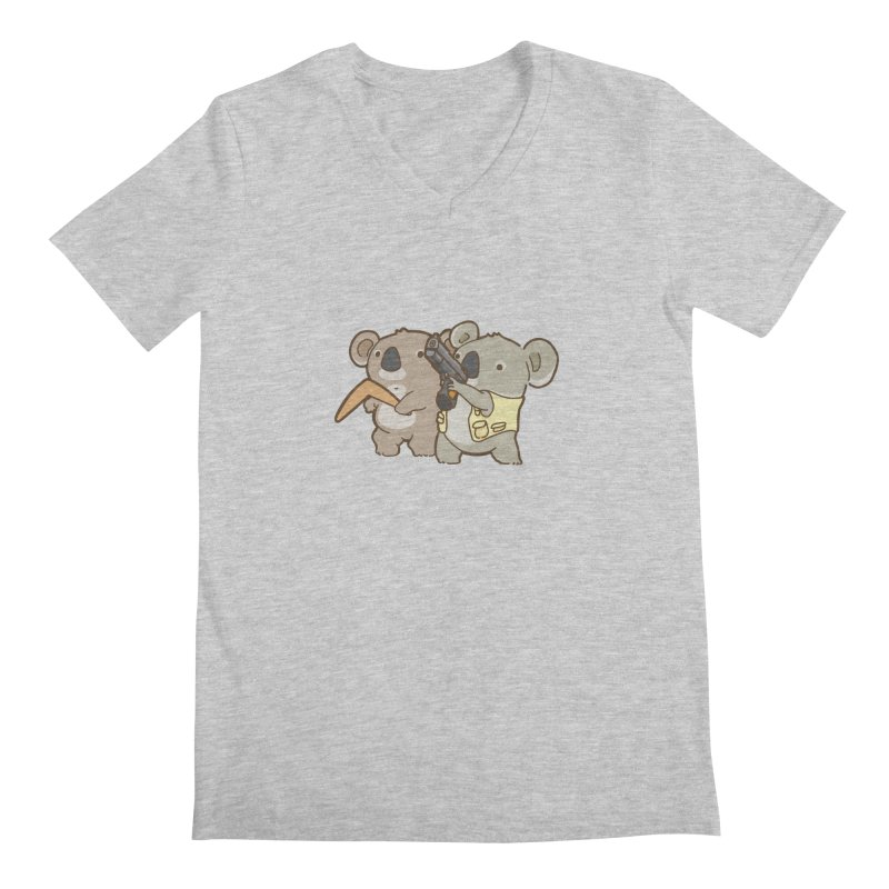 Dangerous Koalas Men's Regular V-Neck by Good Bear Comics's Artist Shop