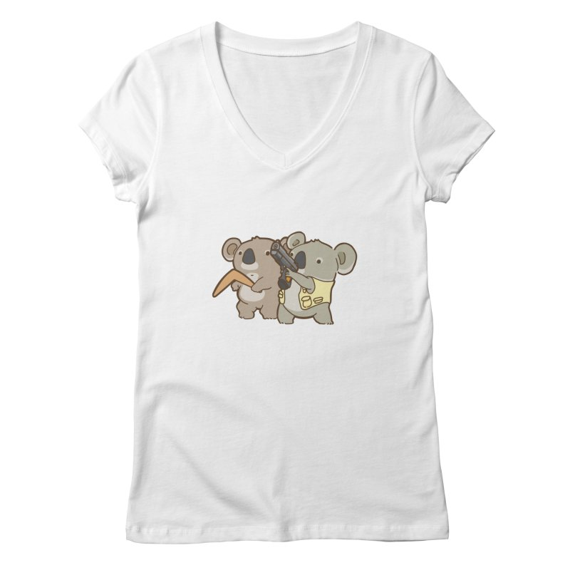Dangerous Koalas Women's V-Neck by Good Bear Comics's Artist Shop