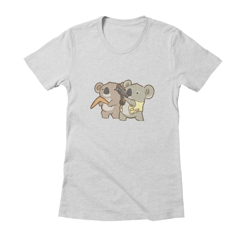 Dangerous Koalas Women's Fitted T-Shirt by Good Bear Comics's Artist Shop