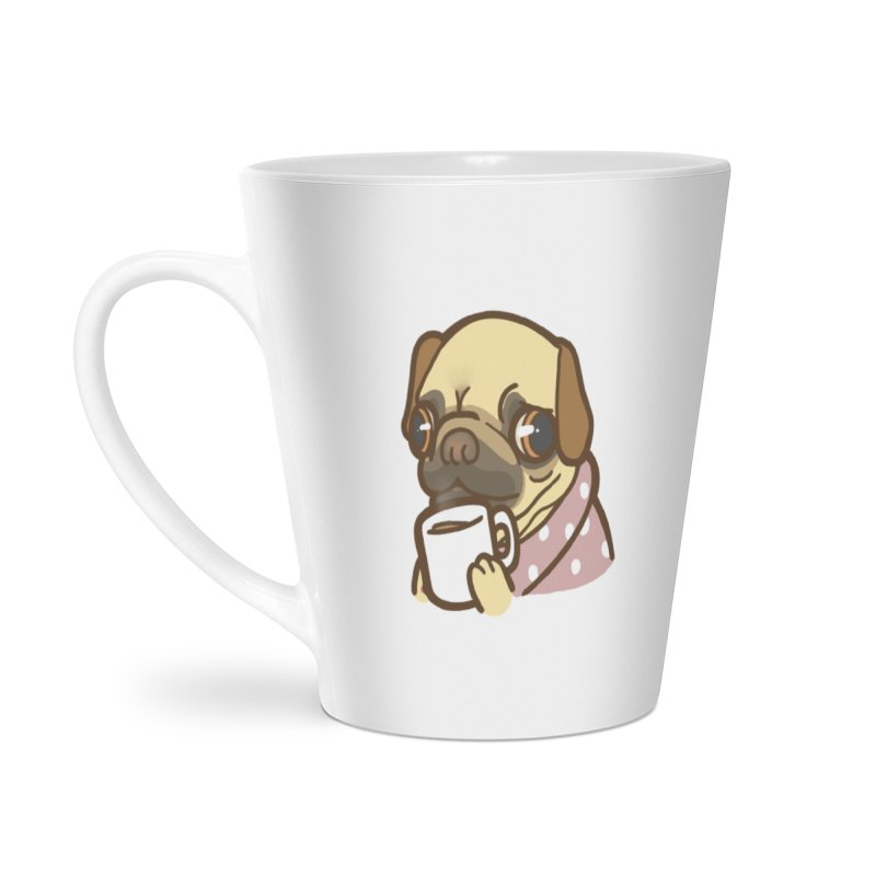 Pug Mug Accessories Latte Mug by Good Bear Comics's Artist Shop