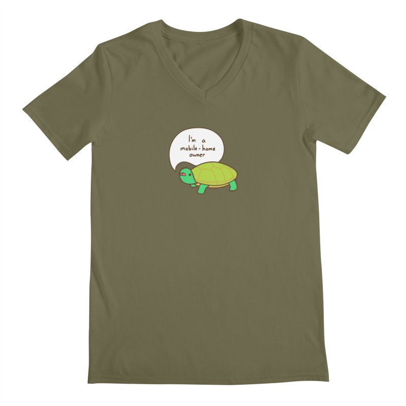 Mobile-Home Owner Men's Regular V-Neck by Good Bear Comics's Artist Shop