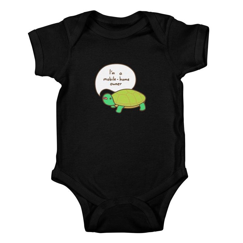 Mobile-Home Owner Kids Baby Bodysuit by Good Bear Comics's Artist Shop
