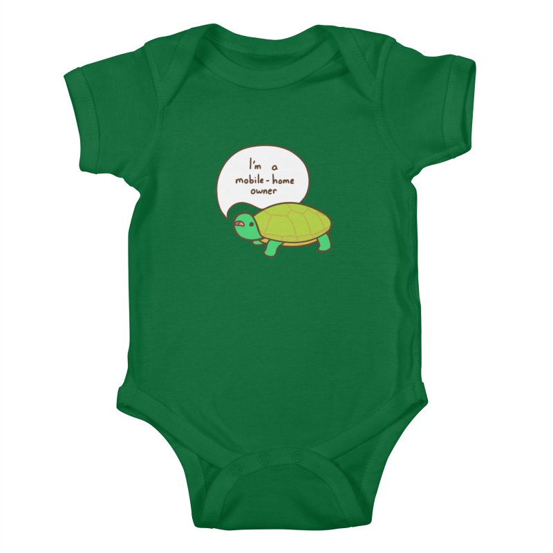 Mobile-Home Owner Kids Baby Bodysuit by Good Bear Comics's Artist Shop