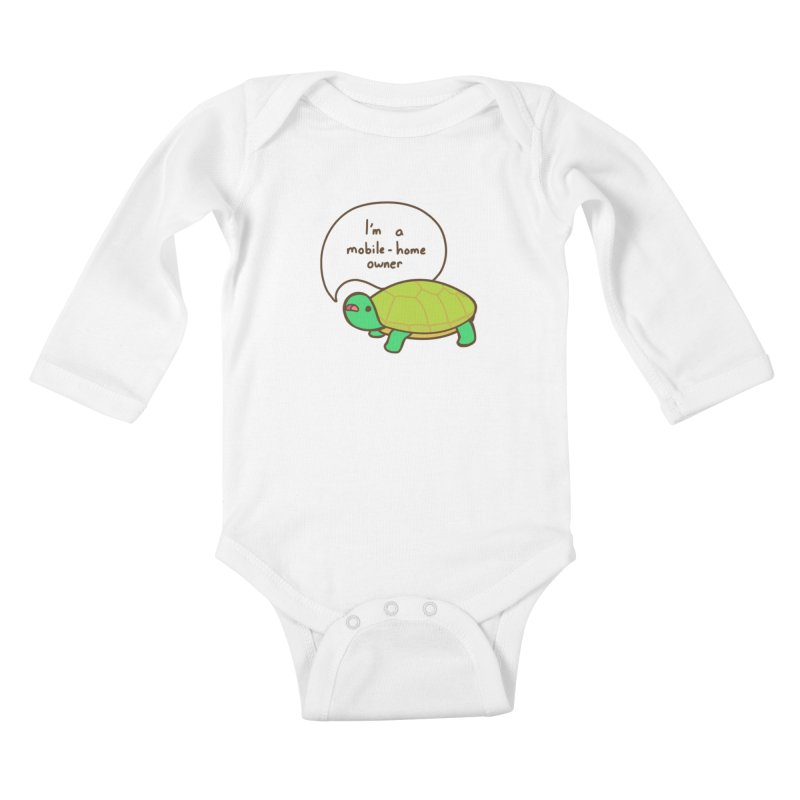 Mobile-Home Owner Kids Baby Longsleeve Bodysuit by Good Bear Comics's Artist Shop