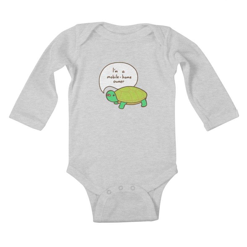 Mobile-Home Owner Kids Baby Longsleeve Bodysuit by Good Bear Comics's Artist Shop