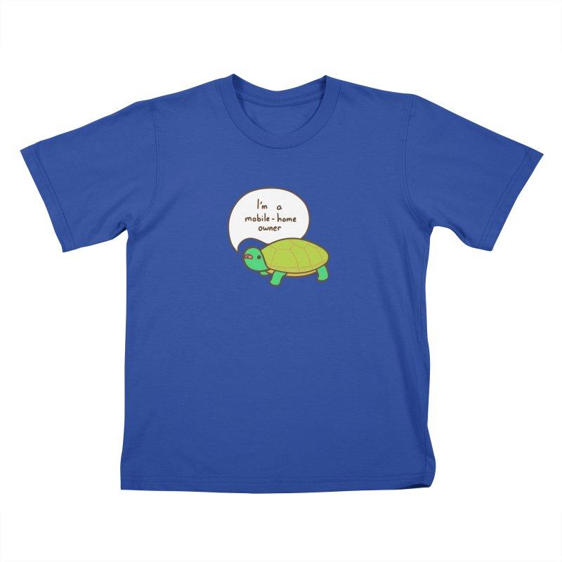 Mobile-Home Owner Kids T-Shirt by Good Bear Comics's Artist Shop