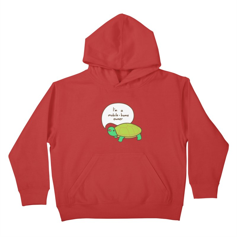 Mobile-Home Owner Kids Pullover Hoody by Good Bear Comics's Artist Shop