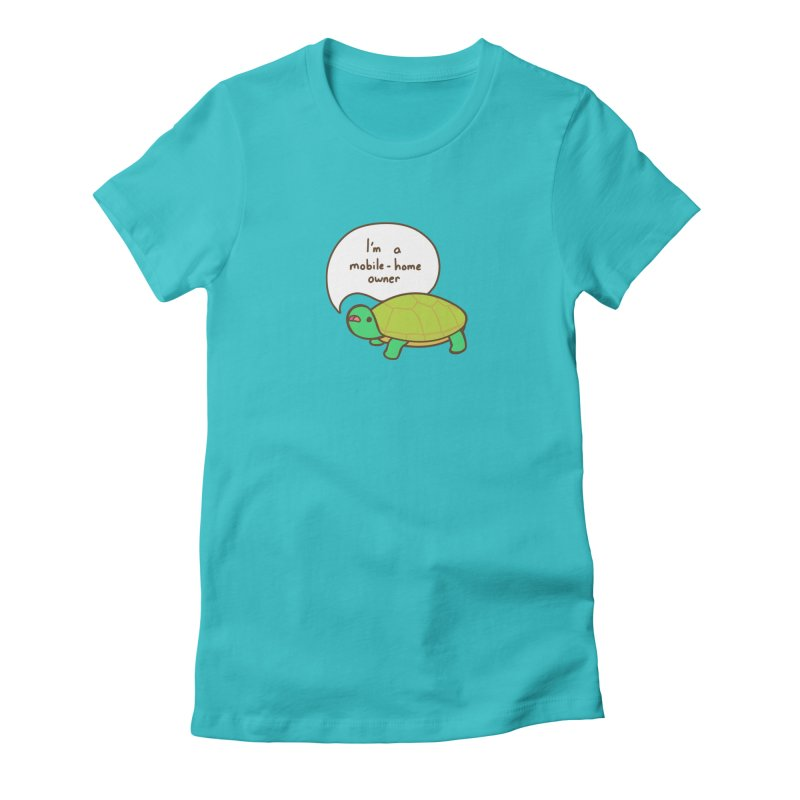 Mobile-Home Owner Women's Fitted T-Shirt by Good Bear Comics's Artist Shop