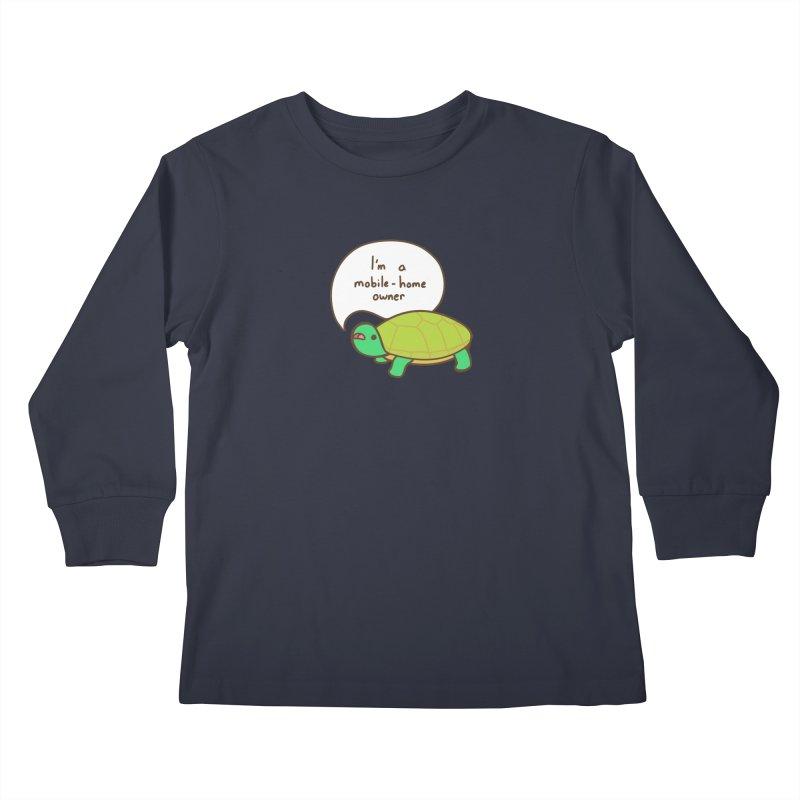Mobile-Home Owner Kids Longsleeve T-Shirt by Good Bear Comics's Artist Shop